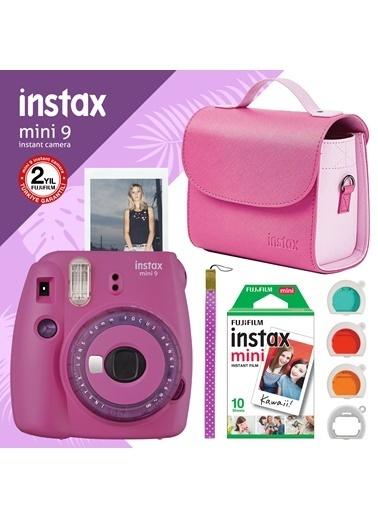 Fujifilm instax mini 9 Mor Fotograf Makinesi ve Hediye Seti 4 Renkli